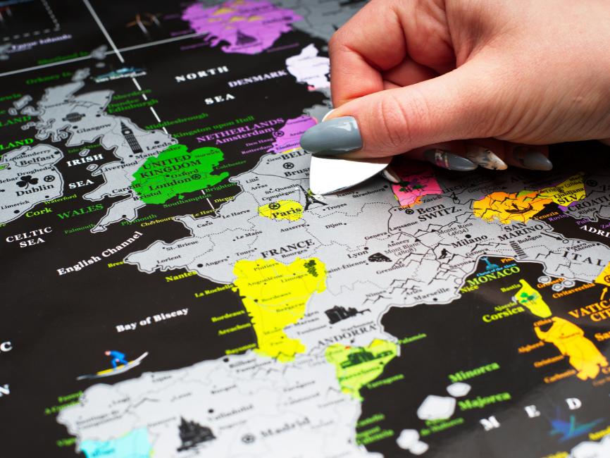 scratch Europe maps